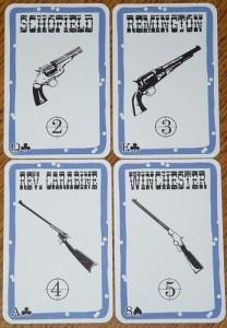 keletas Bang! ginklų